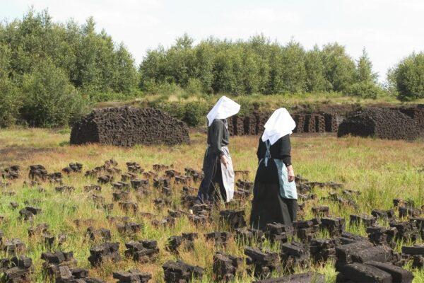 In het Veenpark beleef je hoe de mensen in Drenthe vroeger in het veen woonden en werkten.